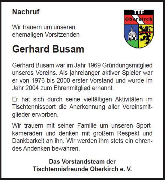 Busam Gerhard Nachruf TTFO